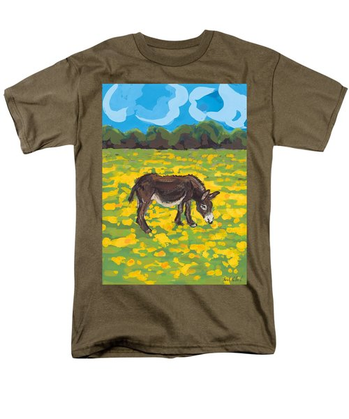 Donkey And Buttercup Field Men's T-Shirt  (Regular Fit) by Sarah Gillard