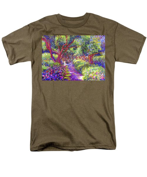 Dove And Healing Garden Men's T-Shirt  (Regular Fit) by Jane Small