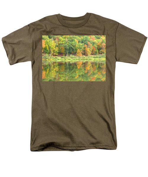 Fall Forest Reflection T-Shirt by Joshua Bales