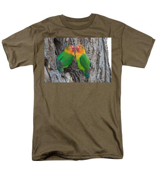 Fischers Lovebird Agapornis Fischeri Men's T-Shirt  (Regular Fit) by Panoramic Images