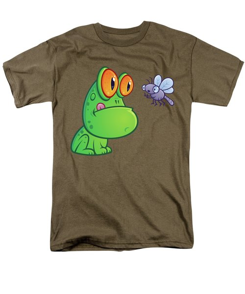 Frog And Dragonfly Men's T-Shirt  (Regular Fit) by John Schwegel