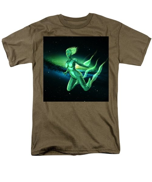 Galaxy Mermaid Men's T-Shirt  (Regular Fit) by Rene Lopez