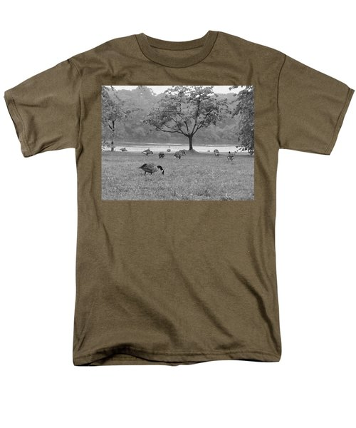 Geese on a Rainy Day T-Shirt by Bill Cannon