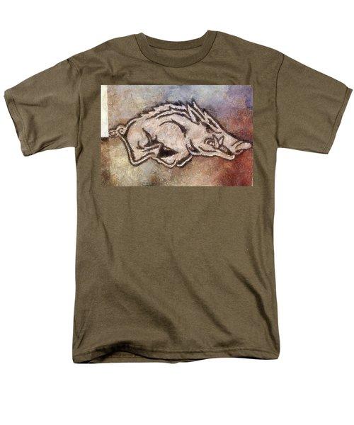 Go Hogs Go  Men's T-Shirt  (Regular Fit) by Dawn Bearden