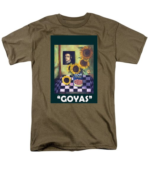 Goyas With Lettering Men's T-Shirt  (Regular Fit) by Leah Saulnier The Painting Maniac