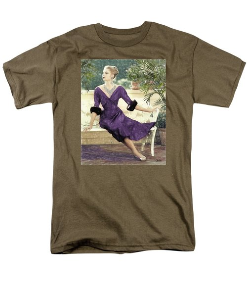 Grace Kelly Draw Men's T-Shirt  (Regular Fit) by Quim Abella