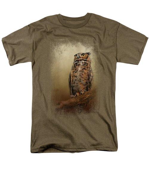 Great Horned Owl At Shiloh Men's T-Shirt  (Regular Fit) by Jai Johnson