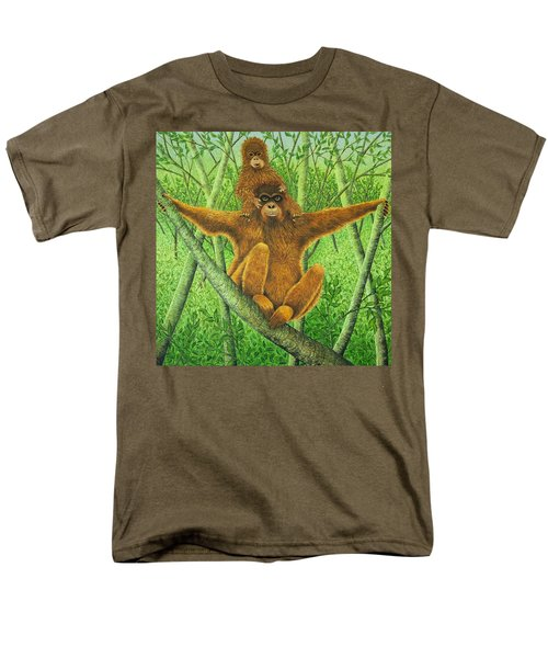 Hnag On In There Men's T-Shirt  (Regular Fit) by Pat Scott