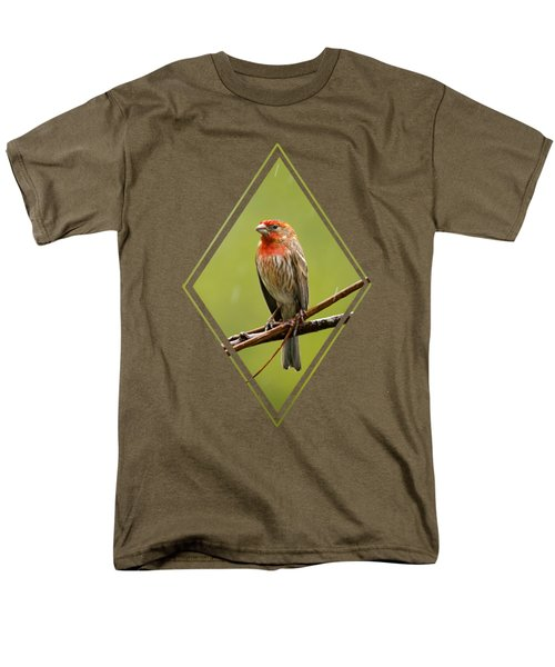 House Finch In The Rain Men's T-Shirt  (Regular Fit) by Christina Rollo
