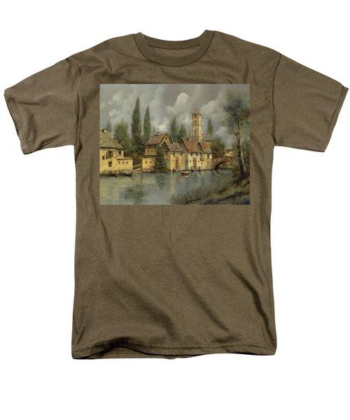 il borgo sul fiume T-Shirt by Guido Borelli