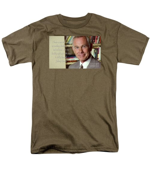 Johnny Carson On Pleasures In Life Men's T-Shirt  (Regular Fit) by Garland Johnson