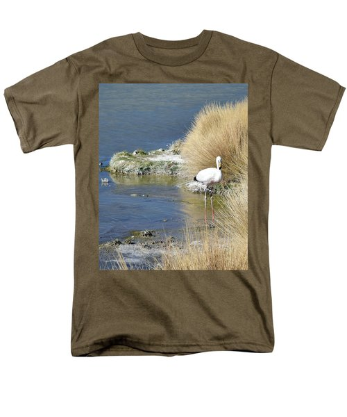 Juvenile Flamingo No. 64 Men's T-Shirt  (Regular Fit) by Sandy Taylor