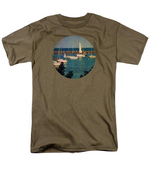 Lake Michigan Sailboats Men's T-Shirt  (Regular Fit) by Mary Wolf