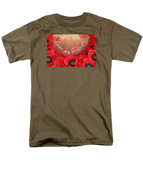 Men's T-Shirt  (Regular Fit) featuring the photograph Lest We Forget - 1914-1918 by Travel Pics