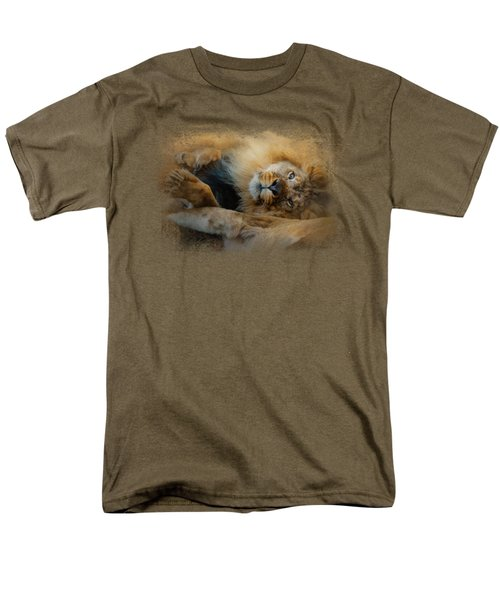 Lion Love 2 Men's T-Shirt  (Regular Fit) by Jai Johnson