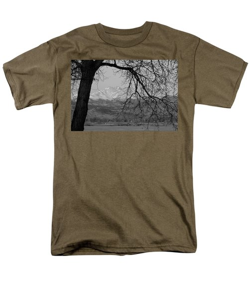 Longs Peak and Mt. Meeker the Twin Peaks Black and White Photo I T-Shirt by James BO  Insogna