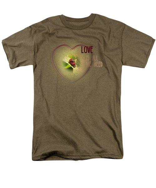 Love Is All We Need Men's T-Shirt  (Regular Fit) by Jutta Maria Pusl