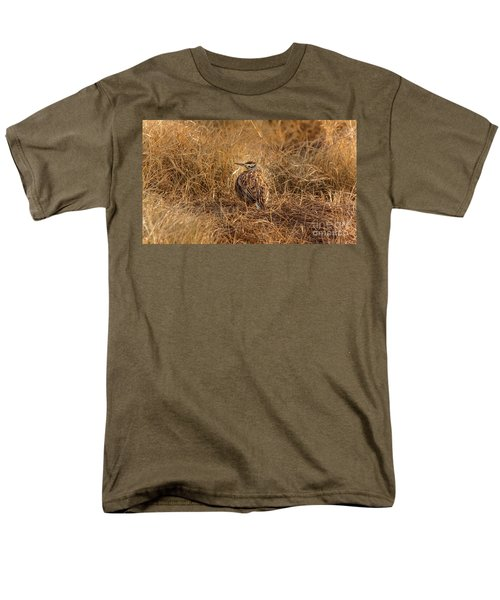Meadowlark Hiding In Grass Men's T-Shirt  (Regular Fit) by Robert Frederick