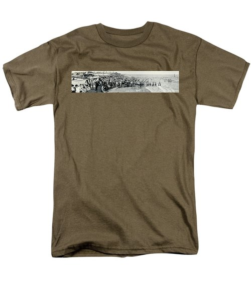 Miami Beach Sunbathers 1921 Men's T-Shirt  (Regular Fit) by Jon Neidert