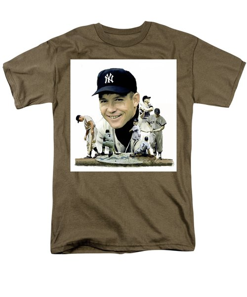 Mickey Mantle Legacy, II  Men's T-Shirt  (Regular Fit) by Iconic Images Art Gallery David Pucciarelli