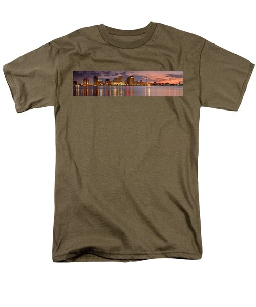New Orleans Skyline at DUSK T-Shirt by Jon Holiday