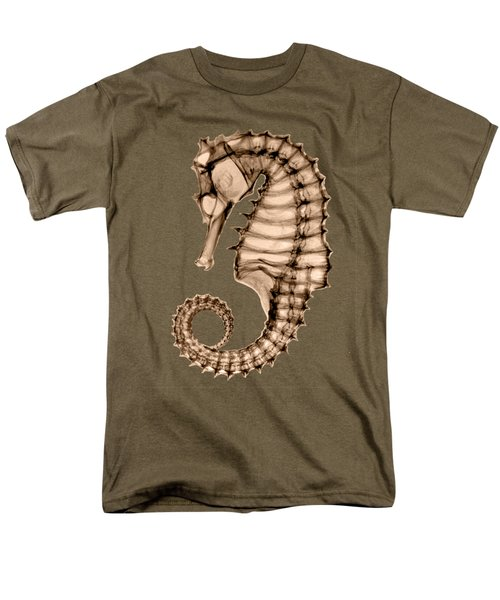 Northern Seahorse X-ray On Sepia Men's T-Shirt  (Regular Fit) by George Green