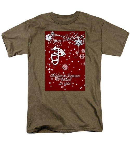 Oklahoma Sooners Christmas Card Men's T-Shirt  (Regular Fit) by Joe Hamilton