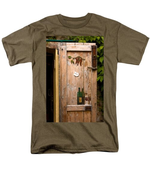 Old Door and Wine T-Shirt by Sally Weigand