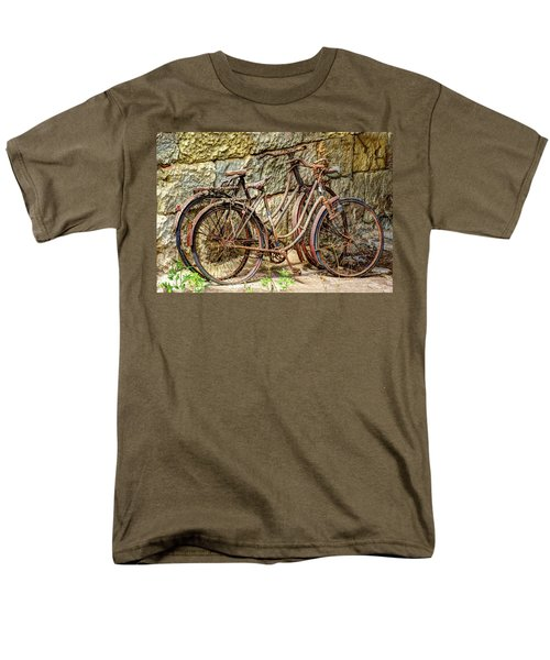 Old French Bicycles T-Shirt by Debra and Dave Vanderlaan