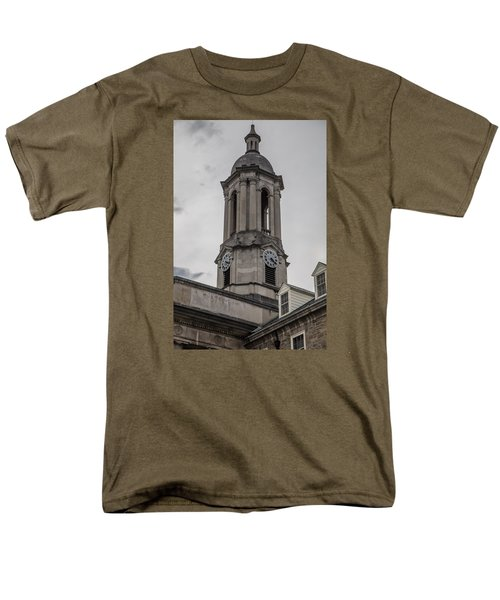 Old Main Penn State Clock  Men's T-Shirt  (Regular Fit) by John McGraw