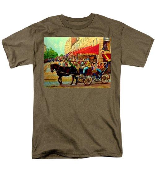 OLD MONTREAL RESTAURANTS T-Shirt by CAROLE SPANDAU