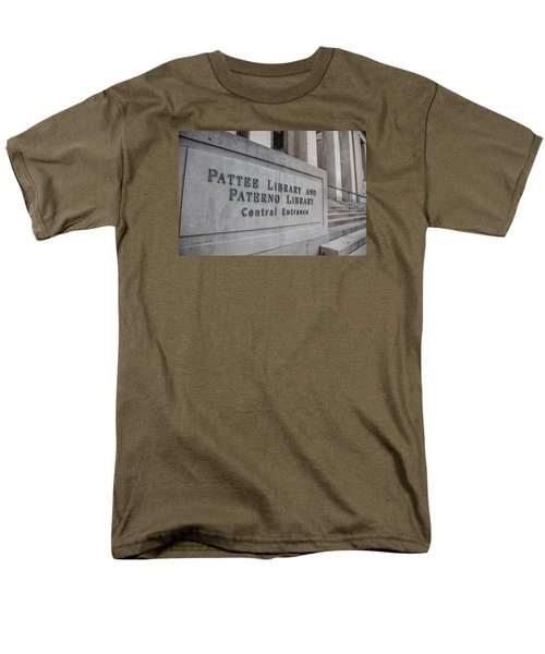 Paterno Library At Penn State  Men's T-Shirt  (Regular Fit) by John McGraw