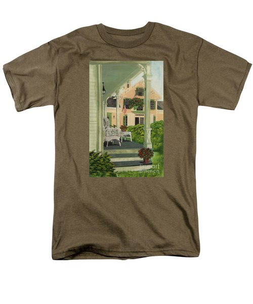 Patriotic Country Porch T-Shirt by Charlotte Blanchard