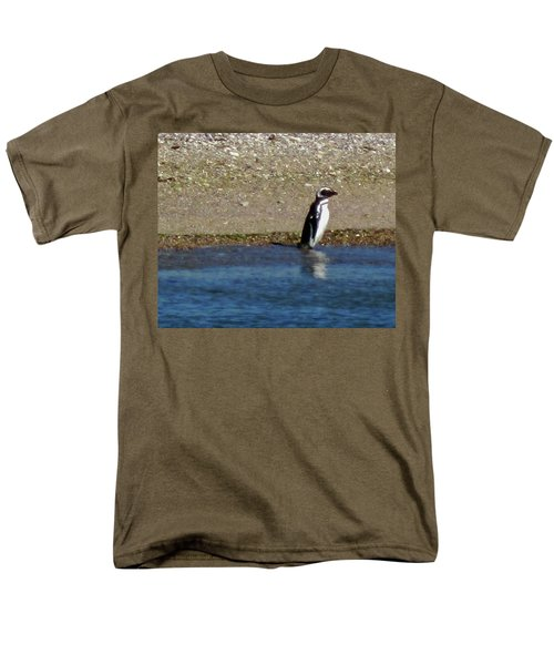 Penguin On The Beach Men's T-Shirt  (Regular Fit) by Sandy Taylor