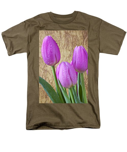 Pink Tulips T-Shirt by Garry Gay