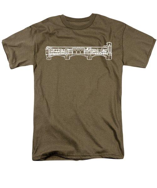 Ponte Vecchio Florence Tee White Men's T-Shirt  (Regular Fit) by Edward Fielding