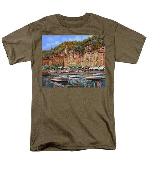 Portofino-La Piazzetta e le barche T-Shirt by Guido Borelli