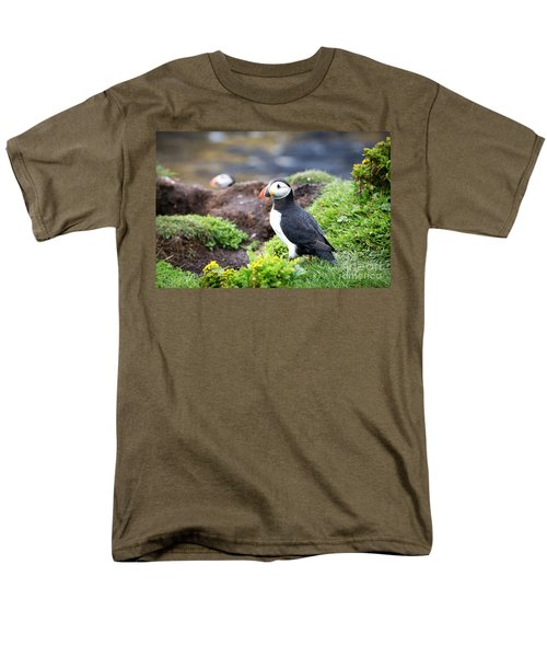 Puffin  Men's T-Shirt  (Regular Fit) by Jane Rix