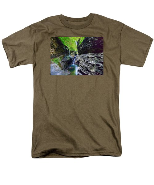 Men's T-Shirt  (Regular Fit) featuring the photograph Rainbow Bridge And Falls by Rodney Campbell