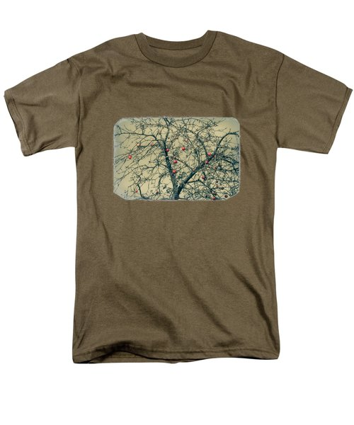 Red Apples In Empty Garden Men's T-Shirt  (Regular Fit) by Konstantin Sevostyanov