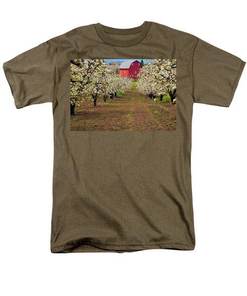 Red Barn Avenue T-Shirt by Mike  Dawson