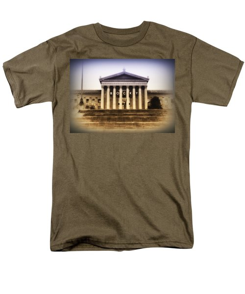 Rocky on the Art Museum Steps T-Shirt by Bill Cannon