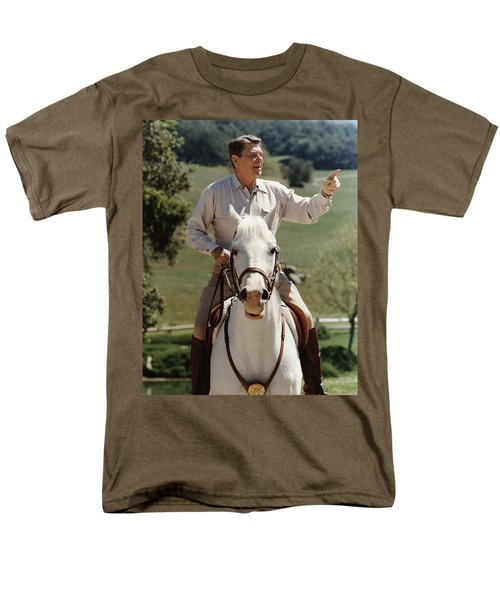 Ronald Reagan On Horseback  T-Shirt by War Is Hell Store