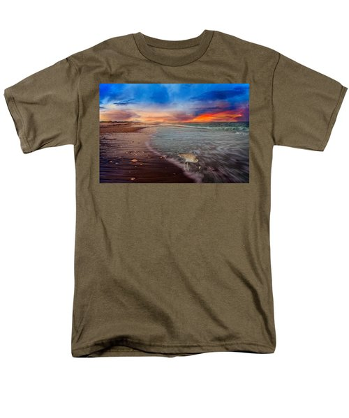 Sandpiper Sunrise Men's T-Shirt  (Regular Fit) by Betsy Knapp