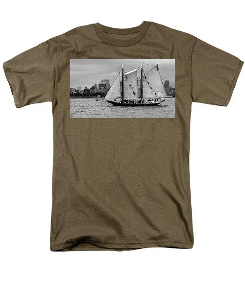 Schooner On New York Harbor No. 1-1 Men's T-Shirt  (Regular Fit) by Sandy Taylor