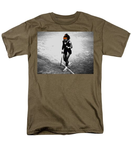 Serena Williams Match Point 3a Men's T-Shirt  (Regular Fit) by Brian Reaves