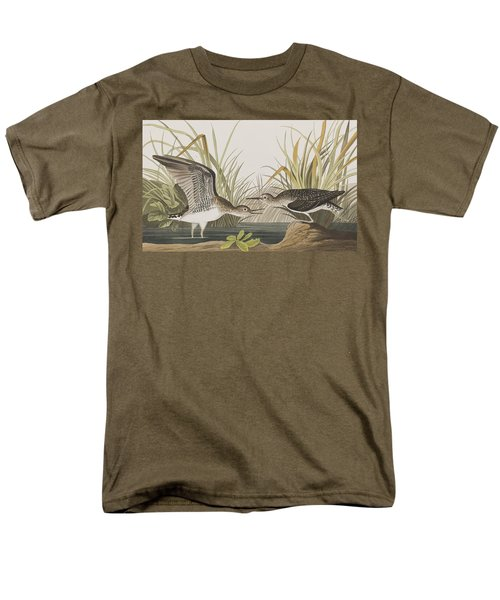 Solitary Sandpiper Men's T-Shirt  (Regular Fit) by John James Audubon