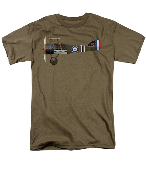 Sopwith Camel - B6313 June 1918 - Side Profile View Men's T-Shirt  (Regular Fit) by Ed Jackson