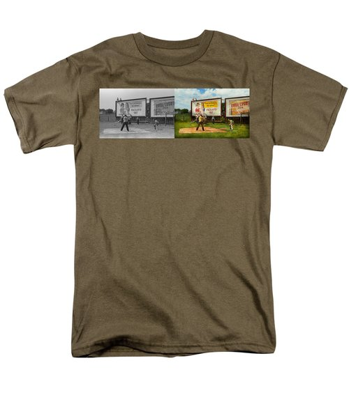 Sport - Baseball - America's Past Time 1943 - Side By Side Men's T-Shirt  (Regular Fit) by Mike Savad
