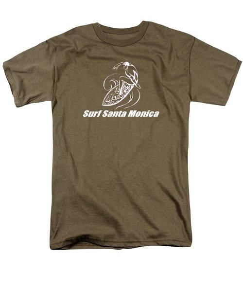 Surf Santa Monica Men's T-Shirt  (Regular Fit) by Brian's T-shirts